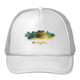Arlington skyline in watercolor trucker hat