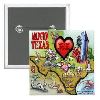 Arlington Texas Cartoon Map Pin