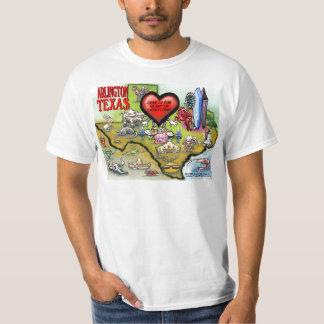 Arlington Texas Cartoon Map T-Shirt