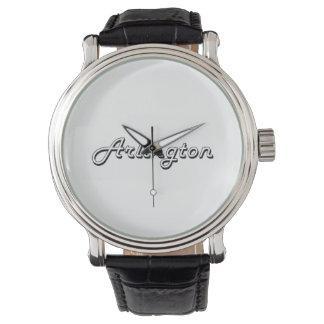 Arlington Texas Classic Retro Design Wristwatch