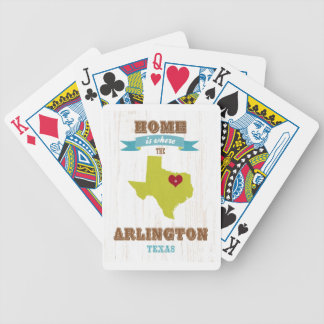 Arlington, Texas Map – Home Is Where The Heart Is Deck Of Cards