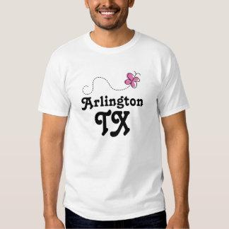Arlington Texas Pink Butterfly Tee Shirt