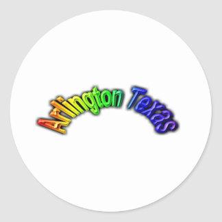 Arlington Texas Popular Rainbow Design Round Sticker