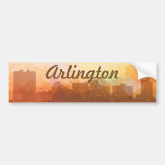 ARLINGTON, TEXAS SKYLINE - In the Clouds Bumper Sticker
