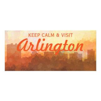 ARLINGTON, TEXAS SKYLINE - In the Clouds Custom Rack Card