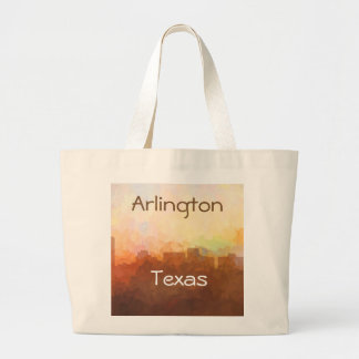 ARLINGTON, TEXAS SKYLINE - In the Clouds Large Tote Bag
