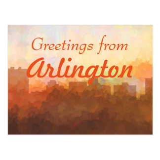 ARLINGTON, TEXAS SKYLINE - In the Clouds Postcard