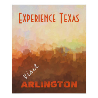 ARLINGTON, TEXAS SKYLINE - In the Clouds Poster