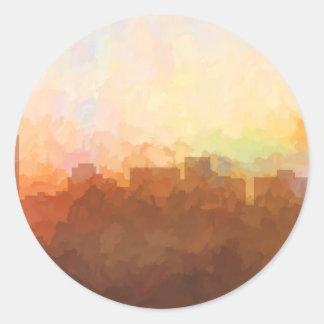 ARLINGTON, TEXAS SKYLINE - In the Clouds Round Sticker