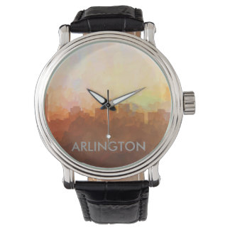 ARLINGTON, TEXAS SKYLINE - In the Clouds Wrist Watch