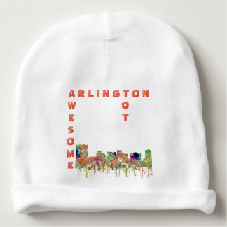Arlington, Texas Skyline SG-Faded Glory Baby Beanie