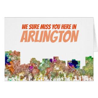 Arlington Texas Skyline SG-Faded Glory Card