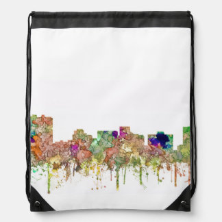 Arlington Texas Skyline SG-Faded Glory Drawstring Bag