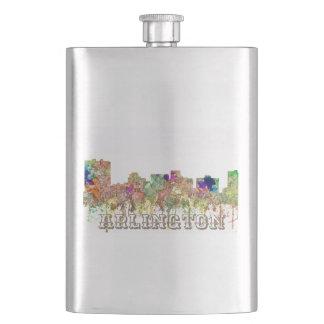 Arlington Texas Skyline SG-Faded Glory Hip Flask