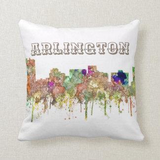 Arlington Texas Skyline SG-Faded Glory Throw Pillow