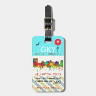 Arlington Texas Skyline-SG Luggage Tags