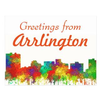 Arlington Texas Skyline-SG Postcard