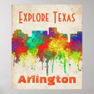 Arlington Texas Skyline-SG Poster