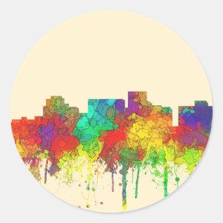 Arlington Texas Skyline-SG Round Sticker
