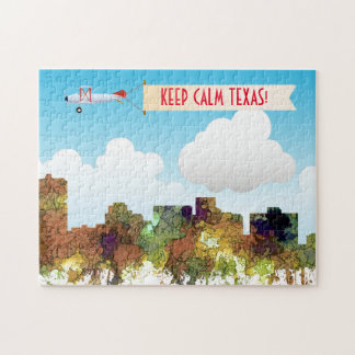 ARLINGTON TEXAS SKYLINE SG - Safari Buff - Jigsaw Puzzle