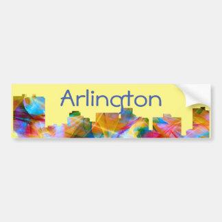 ARLINGTON TEXAS SKYLINE VIBRANCE - BUMPER STICKER