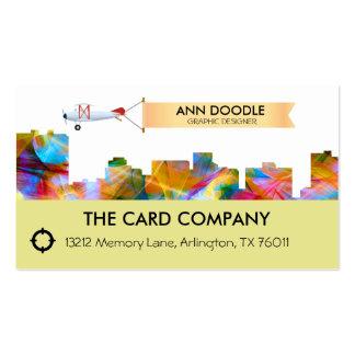 ARLINGTON TEXAS SKYLINE VIBRANCE - BUSINESS CARD