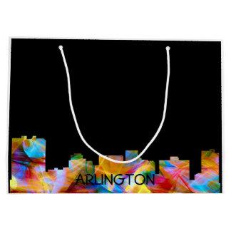 ARLINGTON TEXAS SKYLINE VIBRANCE - LARGE GIFT BAG