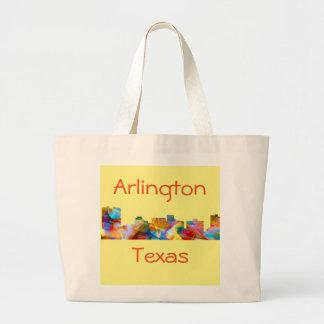 ARLINGTON TEXAS SKYLINE VIBRANCE - LARGE TOTE BAG