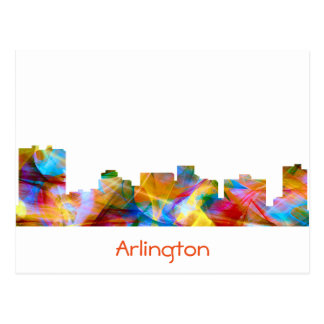 ARLINGTON TEXAS SKYLINE VIBRANCE - POSTCARD