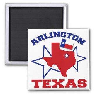 Arlington, Texas Square Magnet
