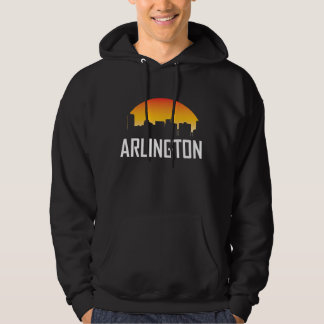 Arlington Texas Sunset Skyline Hoodie