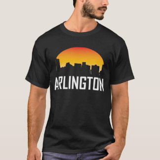 Arlington Texas Sunset Skyline T-Shirt
