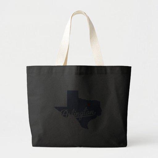 Arlington Texas TX Shirt Canvas Bags