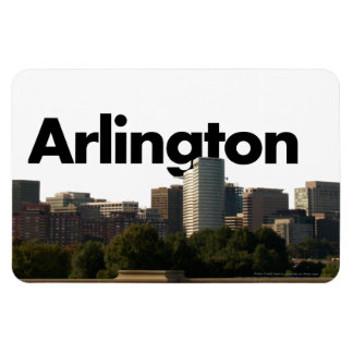Arlington TX Skyline w/Arlington in the Sky Magnet