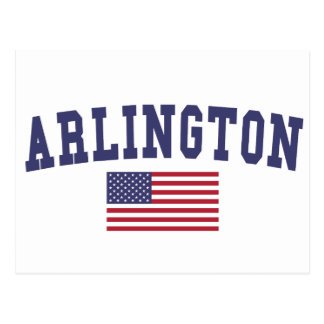 Arlington TX US Flag Postcard