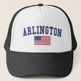 Arlington VA US Flag Trucker Hat