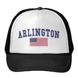 Arlington VA US Flag Trucker Hat