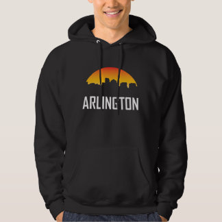 Arlington Virginia Sunset Skyline Hoodie