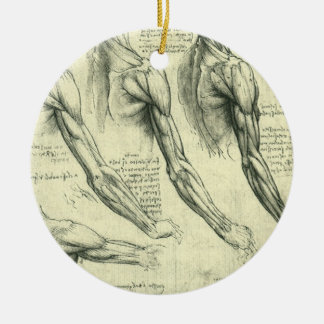 Arm and Shoulder Anatomy by Leonardo da Vinci Ceramic Ornament