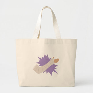 Arm Cast Large Tote Bag