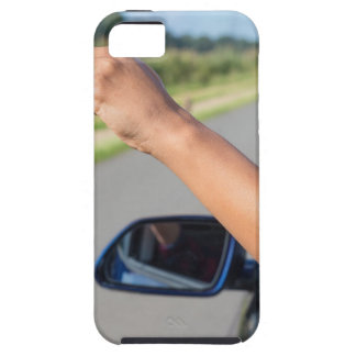 Arm dropping peel of banana out car window iPhone 5 case