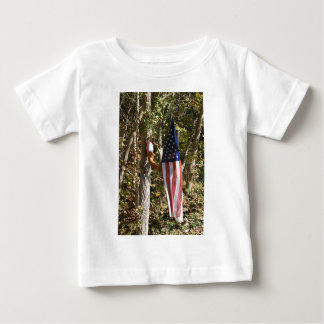 Arm Flag Holder Fun Americana American Baby T-Shirt