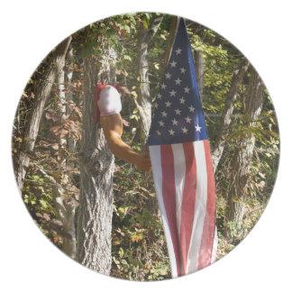 Arm Flag Holder Fun Americana American Plate