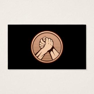 Arm wrestling Bronze Business Card