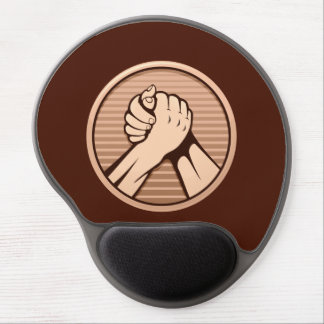 Arm wrestling Bronze Gel Mouse Pad