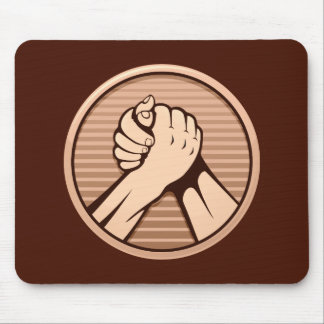 Arm wrestling Bronze Mouse Pad