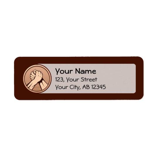 Arm wrestling Bronze Return Address Label