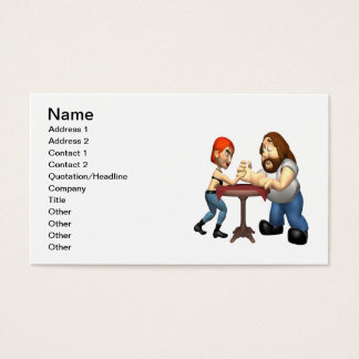 Arm Wrestling Business Card