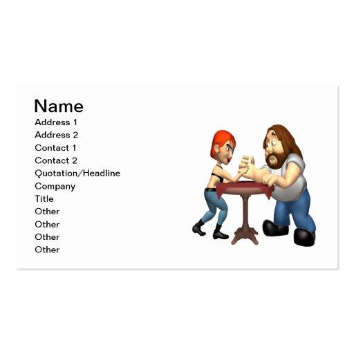 Arm Wrestling Business Card