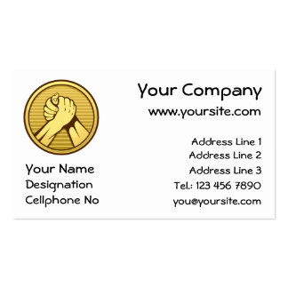 Arm wrestling Gold Double-Sided Standard Business Cards (Pack Of 100)